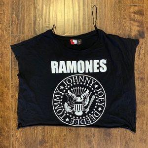 H&M Ramones oversized crop top